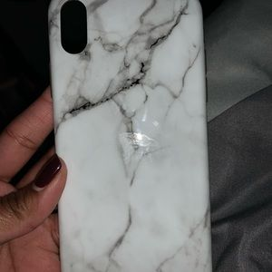 White marble silicone case like new iPhone X